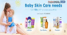 Firstcry Offer : Baby Skin Care Needs Flat 15% Off On Orders Above Rs.750.  http://www.paisavasul.com/code/firstcry-offer-baby-skin-care-needs-flat-15-off
