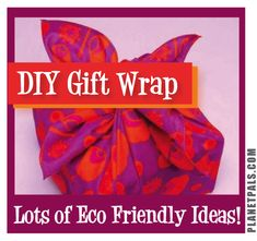Lots of ways to make DIY Eco friendly Gift Wraps and Bows! #green #holidays