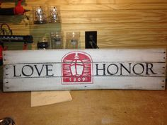 Miami University sign for your wall (my husband made). Email me at kdk12886@gmail.com if interested!