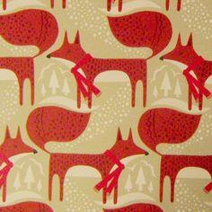 Paperchase Christmas wrap via print & pattern Illustrations, Pattern Illustration, Surface Pattern Design, Pattern Art, Fox Pattern, Textile Patterns, Print Patterns, Textiles, Fantastic Fox