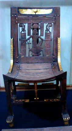 Chair found inside the Tomb of Tutankhamun.