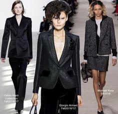 Blazer – Calvin Klein: Outono 2016/17, Giorgio Armani: Outono 2016/17 e Michael Kors: Verão 2016