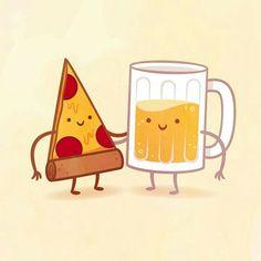 #Pizza#cerveza