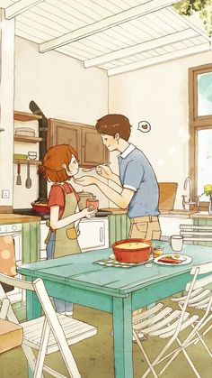 Cute Couple Comics, Cute Couple Cartoon, Cute Couple Art, Anime Love Couple, Cute Love Images, Cute Love Gif, Cute Couple Drawings, Cute Drawings, Couple Illustration