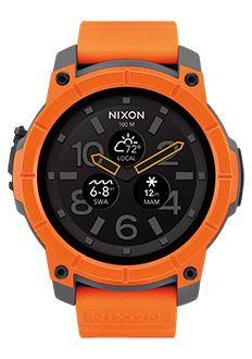 The new Nixon Mission is an Android Wear watch for surfers. The new Nixon Mission is an Android Wear watch for… Army Watches, Cool Watches, Watches For Men, Nixon Watches, Citizen Watches, Analog Watches, Android Wear Smartwatch, Android Watch, Surf Girls