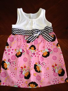 Dora the Explorer dress on Etsy, $30.00