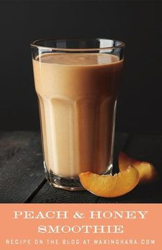 This peach smoothie is bright and satisfying for breakfast or a mid-afternoon snack. Peaches represent sunshine to me. It's always in the dead of winter that we long for summer. Fun Desserts, Delicious Desserts, Dessert Recipes, Afternoon Snacks, Mid Afternoon, Protein Smoothie Recipes, Smoothies, Chewy Brownies, Honey Recipes