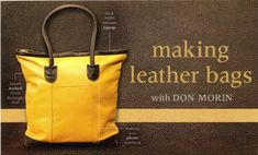 This is a sponsored post. Finally, we're going to be able to learn how to sew with leather. I am so excited! Craftsy is offering a class taught by Don Morin. Clothing designer, patternmaker, and educator, Don Morin is the design talent behind the blog, Bag'n-telle. A 30-year veteran of the Canadian fashion