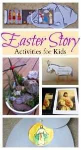 Easter story activities for kids; resurrection crafts and more.