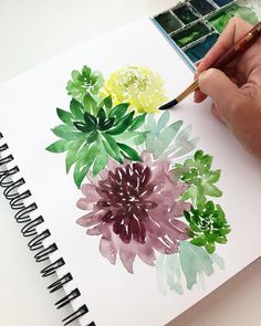 Taking 20 minutes out of a busy week to paint some succulents. Happy Friday everyone!