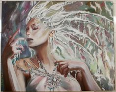"""Painting """"The Snow Queen"""". Wall Art, Oil Painting On Canvas, Original Painting, Wall Decor, Fine Art, Artwork by Alex Pelesh. by PeleshArtStudio on Etsy"""