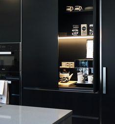 Great Ideas For Your Home Lights. Kitchen Art, Home Decor Kitchen, Kitchen Interior, Interior Design Living Room, Kitchen Design, Kitchen Cabinets, Coffee Station Kitchen, Minimal Kitchen, Black Kitchens