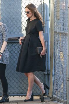 Blossoming: Pregnant Keira Knightley cut a vintage figure in Los Angeles on Thursday after...