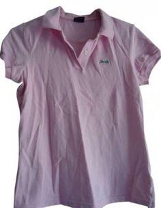 Le Tigre Women's Slim Fit Stretch Polo Shirt T Shirt Pink $22