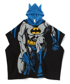 Another great find on #zulily! Batman Plush Poncho - Boys #zulilyfinds