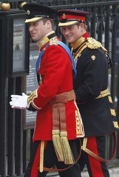 Prince William and Prince Harry. Every time I see these two together I wonder what mischief they are getting up to.