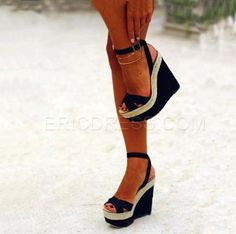 Ankle Strap Peep-toe Wedge Sandals Wedge Sandals