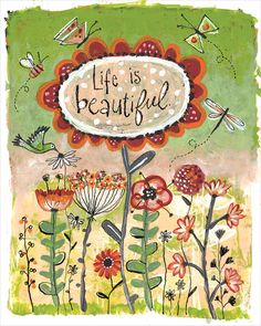 Soul Whispers Life is Beautiful art by Lori Siebert by LoriSiebertStudio on Etsy