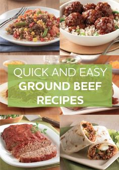 Browse through our simple and delicious ground beef recipes to find your family's new favorite meal. Try one for dinner tonight!