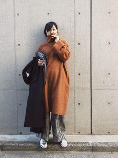 小谷実由さんの「Franz Big Dress Ⅱ(mother)」を使ったコーディネート