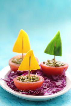 Tomato boats #groente #tomaten #kinderen