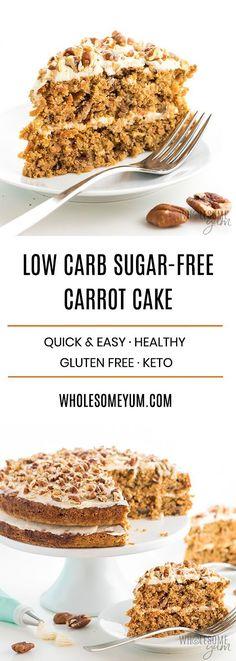 LOW CARB KETO SUGAR-FREE CARROT CAKE RECIPE WITH ALMOND FLOUR - Recipes Diaries