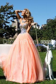 2014 Beading Sweetheart A-Line Sleeveless Floor-Length Tulle Prom Dresses