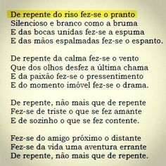 Vinicius de Moraes, Soneto de Separação