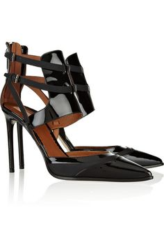 REED KRAKOFF Cutout leather and patent-leather pumps // SO in charge!!