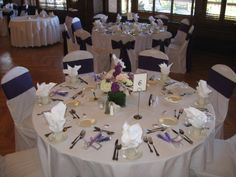 Lovely Lavender. We can match your color theme with our new uplighting!  www.eccgolf.com