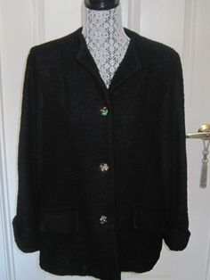 Vintage CAROLE LITTLE Swing Jacket With by LunasVintageDesigns, $60.00