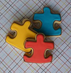 Jigsaw puzzle pieces cookies (also logo for autism)