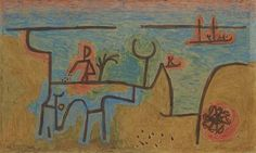 Paul Klee 'Am Nil' (By the Nile) 1939 Painting with glue on paper mounted (marouflaged) on burlap (This piece was virtually unknown because it has been held in private collection for so long) At 75 x 125 cm it is also one of Klee's largest works