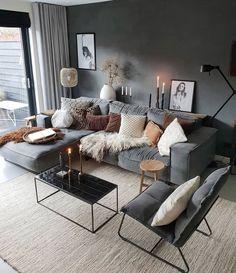 Living Room Decor Cozy, Home Living Room, Interior Design Living Room, Living Room Designs, Scandinavian Interior Living Room, Scandinavian Style, Cosy Living Room Decor, Apartment Living Rooms, Cosy Decor