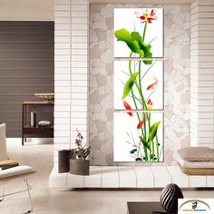 2015 Real Quadros De Parede Gorgeous Lotus Flower Chinese Style Oil Painting Printed Home Decor Wall Art Picture free Shipping