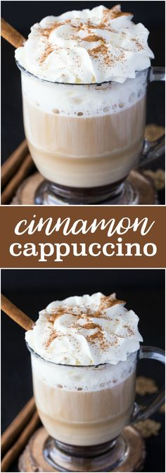 Cinnamon Cappuccino - Creamy, smooth and perfect for fall! Watch my video featured in the post to see how easy it is to make with my De'Longhi Magnifica S Cappuccino Smart. #ad