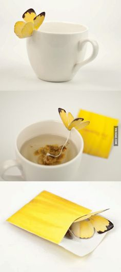 9GAG - Butterfly Tea Bag