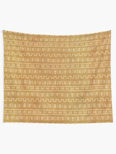 """""""Rust aztec pattern"""" Tapestry by WhalesWay 