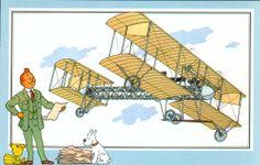 Figurina 40, monoplano CA 1 di Gianni Caproni 1910 Italia - collezione privata Goria - raccolta Tintin, figurina speciale per l'edizione italiana.
