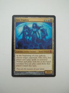 MTG Magic the Gathering mythic rare Sen Triplets