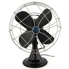 Antique Black Emerson Electric Oscillating Fan