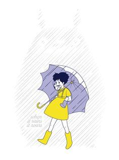 When it rains, it roars. #totoro