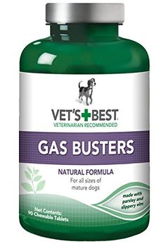Vets Best Gas Busters Dog Supplements 90 Chewable Tablets ** You can find out more details at the link of the image.Note:It is affiliate link to Amazon.