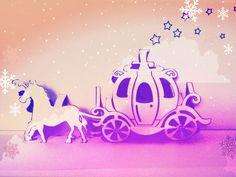 Cinderella pop up card