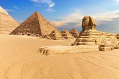 With the mighty Nile River and majestic monuments, Egypt is a must-see for any world traveler! Giza Egypt, Pyramids Of Giza, Machu Picchu, Mykonos, Santorini, Around The World Cruise, Monte Everest, Taj Mahal, Safari