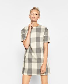 STRAIGHT CUT ORGANIC COTTON CHECK DRESS-SPECIAL PRICES-WOMAN | ZARA United States