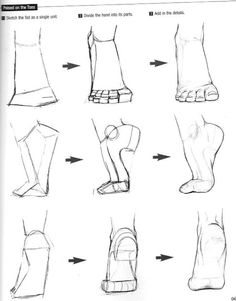 How to draw feet - Human anatomy - Drawing Reference Drawing Skills, Drawing Techniques, Drawing Tips, Drawing Tutorials, Art Tutorials, Body Drawing Tutorial, Drawing Artist, Sketch Drawing, Drawing Ideas