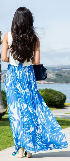Printed Maxi Inspiration Beach Dress by Stylishly Me