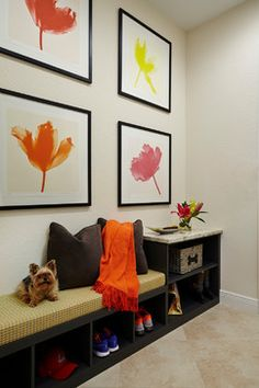 Young Family Home - transitional - Entry - Piper Gonzalez Designs