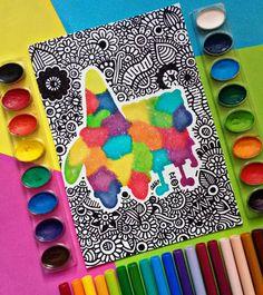 Dibujos Zentangle Art, Mandala Art, Triangle, Rainbow, Drawings, Artist, Painting, Mandalas, Bestfriends